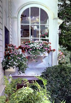 beautiful window boxes, beautiful windows