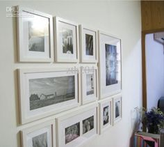 Wholesale china made white solid wood combination Photo Frames wall decorative painting 10 frames/set, Free shipping, $82.55-102.6/Piece | DHgate