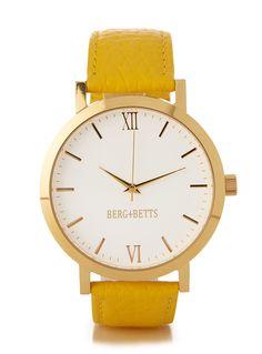Original yellow and gold watch Trendy Watches, Gold Watch, Women Accessories, Clock, The Originals, Yellow, Watch, Women's Accessories, Clocks