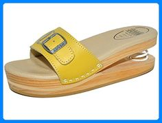 LUVER Federschuhe - Damen Federpantolette - Schuhe mit Feder ? clgjr2103a, amarillo, Größe: 40 - Clogs für frauen (*Partner-Link)
