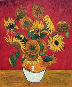 Handpainted Sunflowers Oil Painting by Van Gogh Flower Painting Reproductions Wall Decor Canvas Art Frameless Van Gogh Flower Paintings, Van Gogh Flowers, Sunflower Paintings, Vase With Fifteen Sunflowers, Van Gogh Still Life, Vincent Willem Van Gogh, Van Gogh Art, Oil Painting Reproductions, Original Paintings