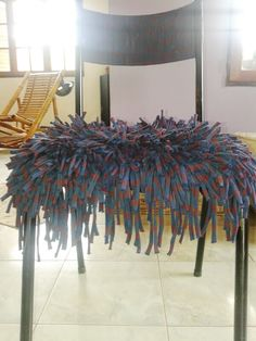 Silla tapizada con totora