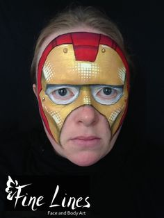 Iron Man Kinderschminken - Iron Man face painting. Fine Lines Face and Body Art, Leipzig, Germany. Kinderschminken. Face Painting. Body painting. Belly painting. Bauchbemalung.