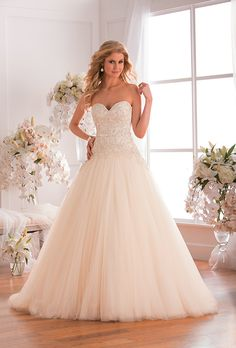 Brides: Jasmine Bridal - Fall 2015. Wedding dress by Jasmine Bridal