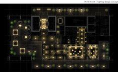 Commercial interior lighting design under corporate employment