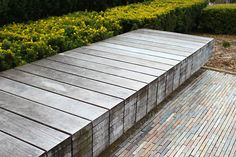 Millennium Park - Chicago, ILI like this set up.  Pavers, walkway, seating, wood bench