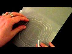 Embossage papier parchemin Pergamano avec les Template PCA