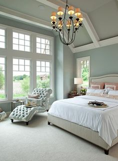Refined Nantucket Show House beach-style-bedroom