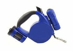 Blue Retractable Leash with LED Lights and Waste Bags - Furry Friends - 1