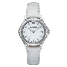 Wenger® Ladies Standard Issue White Dial White Leather Strap.Lo  encontraras en nuestra tienda: www.nuevasuiza2.com