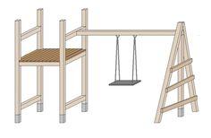 Spielturm selber bauen - Die Schaukel bauen