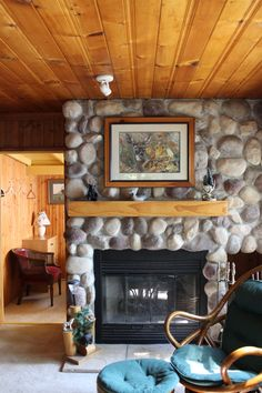 A Cottages Stone FirePlace
