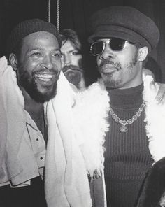 MARVIN GAYE & STEVIE WONDER 1970's PRESS PUBLICITY PHOTO / Motown