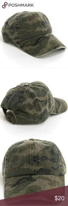 Camo Cap / Camouflage Dad Hat  HOST PICK  OS camouflage cap for when you're on the go! 100 % cotton. Host pick 5/5/17  Accessories Hats