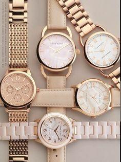 Anne Klein´s watches, love it! - Burcu Biçer - - Anne Klein´s watches, love it! Trendy Watches, Elegant Watches, Beautiful Watches, Cool Watches, Cheap Watches, Wrist Watches, Rolex Watches, Rose Gold Watches, Fossil Watches