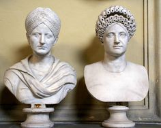 Vatikanische Museen, Museo Chiaramonti, Frisurenmode im alten Rom 1. und 2. Jh. n. Chr. (antique Roman hair styles 1st and 2nd century A.C.)