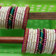 Silk Thread Bangles at Silk Thread Bangles Design, Silk Bangles, Silk Thread Earrings, Bridal Bangles, Thread Jewellery, Jewellery Diy, Gold Jewelry, Beaded Necklace Patterns, Jewelry Patterns