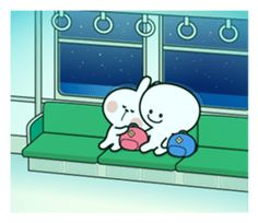 Spoiled Rabbit is looking forward to the next date. Have a nice day! Cute Love Pictures, Cute Love Gif, Cute Images, Kawaii Doodles, Cute Doodles, Kawaii Stickers, Love Stickers, Cute Wallpaper Backgrounds, Cute Wallpapers