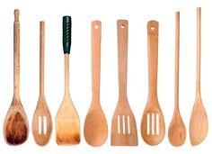Wooden utensils can crack and warp in the dishwasher because the prolonged exposure to water and detergent dries out the wood grain. To clean your wooden spoons or cutting board, simply sprinkle a little baking soda on the surface and scrub lightly to remove stuck-on food residue.