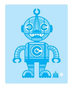 C-Boto the first of 4 CMYK bots.