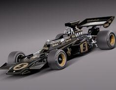 Lotus 72d John Player Special 1970-1975 3D Model