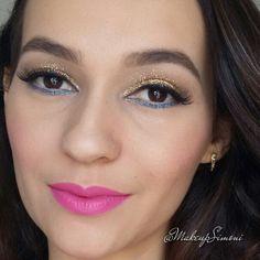 Maquiagem alegre - batom rosa