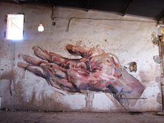 EMILIO CEREZO  'Estigma'  [Totana, Spain 2014] Emilio, Graffiti Art, Urban Art, Spanish, Painting, Glass, Cherry Tree, City Art, Street Art