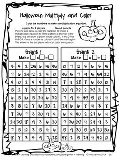 math worksheet : 1000 images about halloween 2014 on pinterest  multiplication  : 5th Grade Halloween Math Worksheets