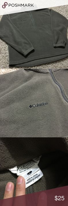 Columbia fleece quarter zip up sweater Large Great condition. No flaws. Quarter zip fleece sweater in size large for mens. Columbia Sweaters Zip Up