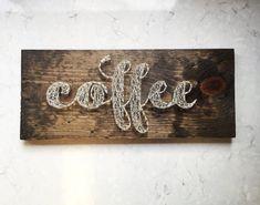 Coffee String Art by SBDesignShop on Etsy