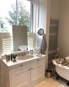 Cafe style shutter fitted recently in Sandymout Cafe Style Shutters, Double Vanity, Bathroom, Washroom, Bath Room, Double Sink Vanity, Bath, Bathrooms