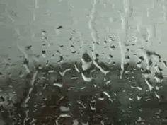 Rain on my window pane.