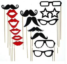 15pcs Photo Booth Props Hat Mustache On A Stick Wedding Birthday party fun favor Free shipping-in Event & Party Supplies from Home & Garden on Aliexpress.com