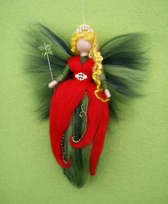 Reserved for Danielle Needle Felted Wool Fairy by Holichsmir, $26.00