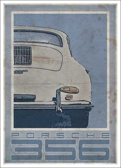Porsche 356 Vintage Style Poster The best Porsche ever : ) Based on the Produced to look like an old poster. Part of a series of Vintage Porsche & Volkswagen images. Porsche 356, Porsche Cars, Porsche Classic, Classic Cars, Vintage Advertising Posters, Vintage Advertisements, Vintage Posters, Porsche Vintage, Vintage Cars