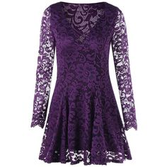 Purple 2xl Long Sleeve Criss Cross Lace Dress ($17) ❤ liked on Polyvore featuring dresses, criss-cross dresses, long sleeve dress, long sleeve criss cross dress, crisscross dresses and lacy dress