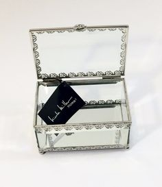 Glass jewelry box by Nicole Miller Home