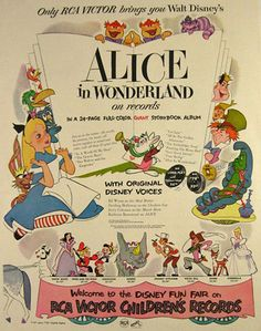 vintage alice in wonderland record