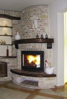 Corner Gas Fireplace Design Ideas wood look ceramic tile corner fireplace Find This Pin And More On Fireplace Ideas The Corner Gas Fireplace