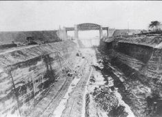 Irlam - construction of Manchester ship canal.