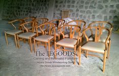 We produce replica of Hans Wegner Wishbone chair mid century furniture by Jepara Goods Woodworking Studio Indonesia.  Best traditional #handmade craftsmanship with high quality at affordable price #retrochair #wishbonechair #vintagechair #kursicafe #furniturefactory #furniturewarehouse #teakchair #indonesiafurniture