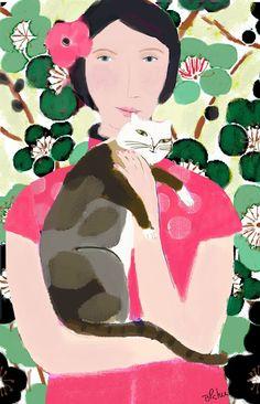 Barbara Perrine Chu // Cherry Blossom Lady