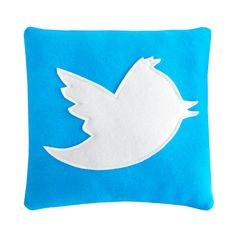 Twitter Pillow by Craftsquatch on Etsy. SO CUTE! Would love to have this lying around my space.