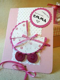 baby card; scallop circle