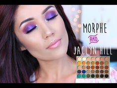 Here is a Makeup Tutorial Using the NEW Jaclyn Hill and Morphe Brushes Palette. I Used the New Jaclyn Hill Palette to create this Blown out Purple Eye Look ,. Jaclyn Hill Palette, Jacklyn Hill Palette Looks, Morphe Eyeshadow, Morphe Palette, Makeup Palette, Eyeshadow Makeup, Eyeshadows, Purple Eye Makeup, Skin Makeup