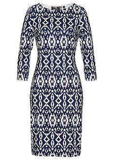 Šaty tmavomodrá/biela vzorovaná Stanú sa • 14.99 € • bonprix Dresses With Sleeves, Long Sleeve, Bonprix, Fashion, Deep Blue, Fashion Ideas, Shape, Moda, Sleeve Dresses