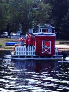 Roscommon MI - Lake James 4th of July boat parade 2013 & pontoon decorating ideas - Google Search | Boat Parade Ideas ...