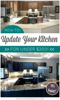 15 do it yourself hacks and clever ideas to upgrade your kitchen 1 diy kitchen makeover get a high end look on a small budget giani solutioingenieria Image collections