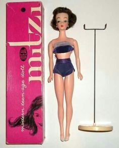 Ideal Mitzi Doll  - Vintage Barbie Clone... RARE Vintage 1960 1961 2 Ideal Mitzi Doll Barbie Clone Fashion Doll Nice