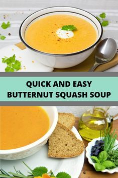 Quick and Easy Butternut Squash Soup. Easy to made. Modify for SIBO, Low Fodmap. No onion or garlic.